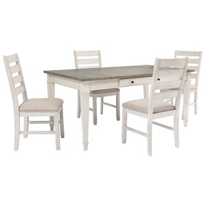 5-Piece Rect. Dining Room Table w/ Storage