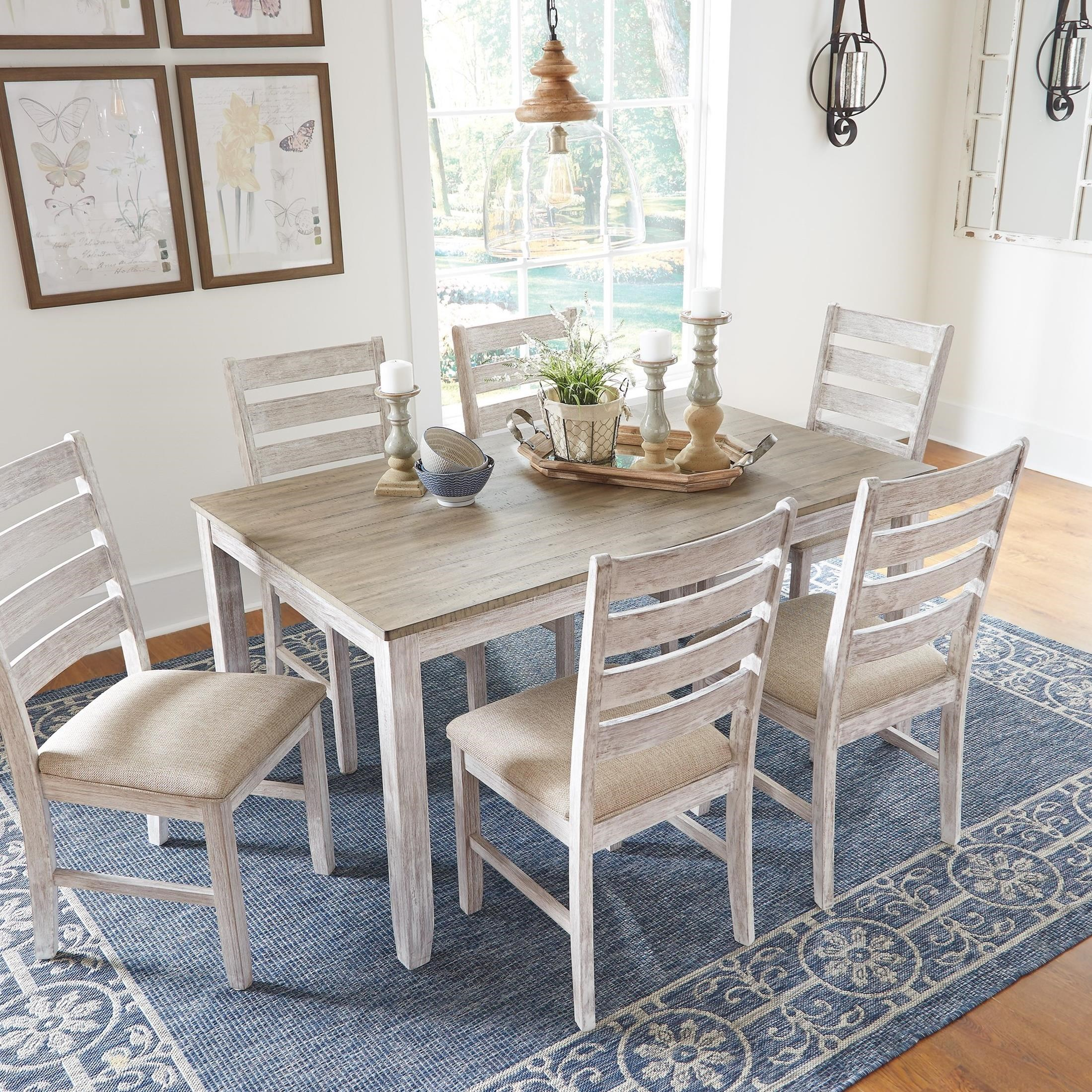 Dining Sets Oakleigh Living And Dining: Signature Design By Ashley Skempton Relaxed Vintage Seven