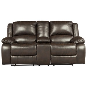Signature Design by Ashley Slayton Double Reclining Loveseat w/ Console