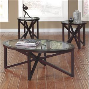 Signature Design by Ashley Furniture Sleffine Occasional Table Set