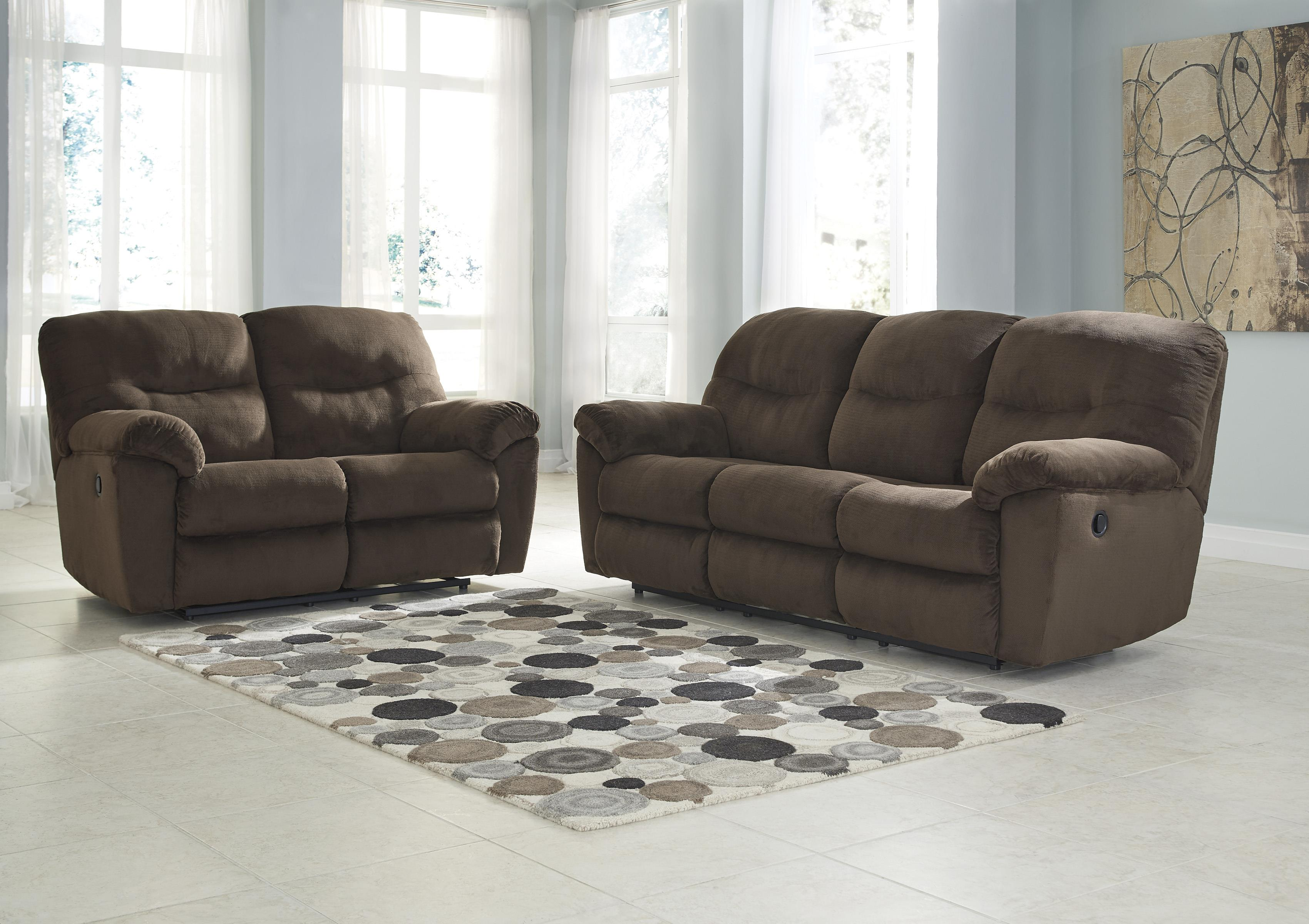 Signature Design by Ashley Slidell Reclining Living Room Group - Item Number: 82702 Living Room Group 1