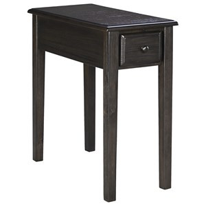 Signature Design by Ashley Solid Wood Chair Side End Table