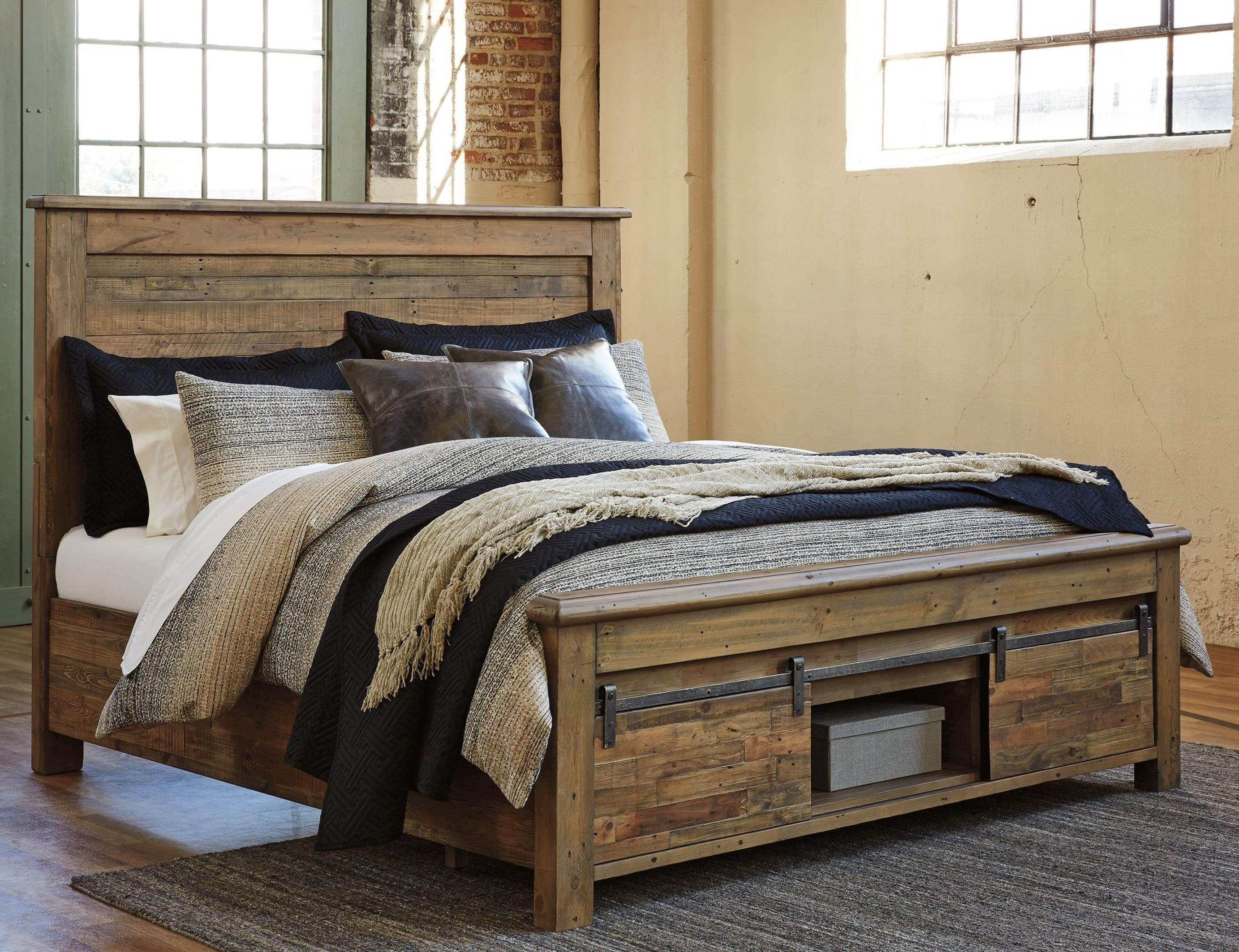 Signature Design By Ashley Sommerford Queen Panel Storage Bed   Item  Number: B775 77