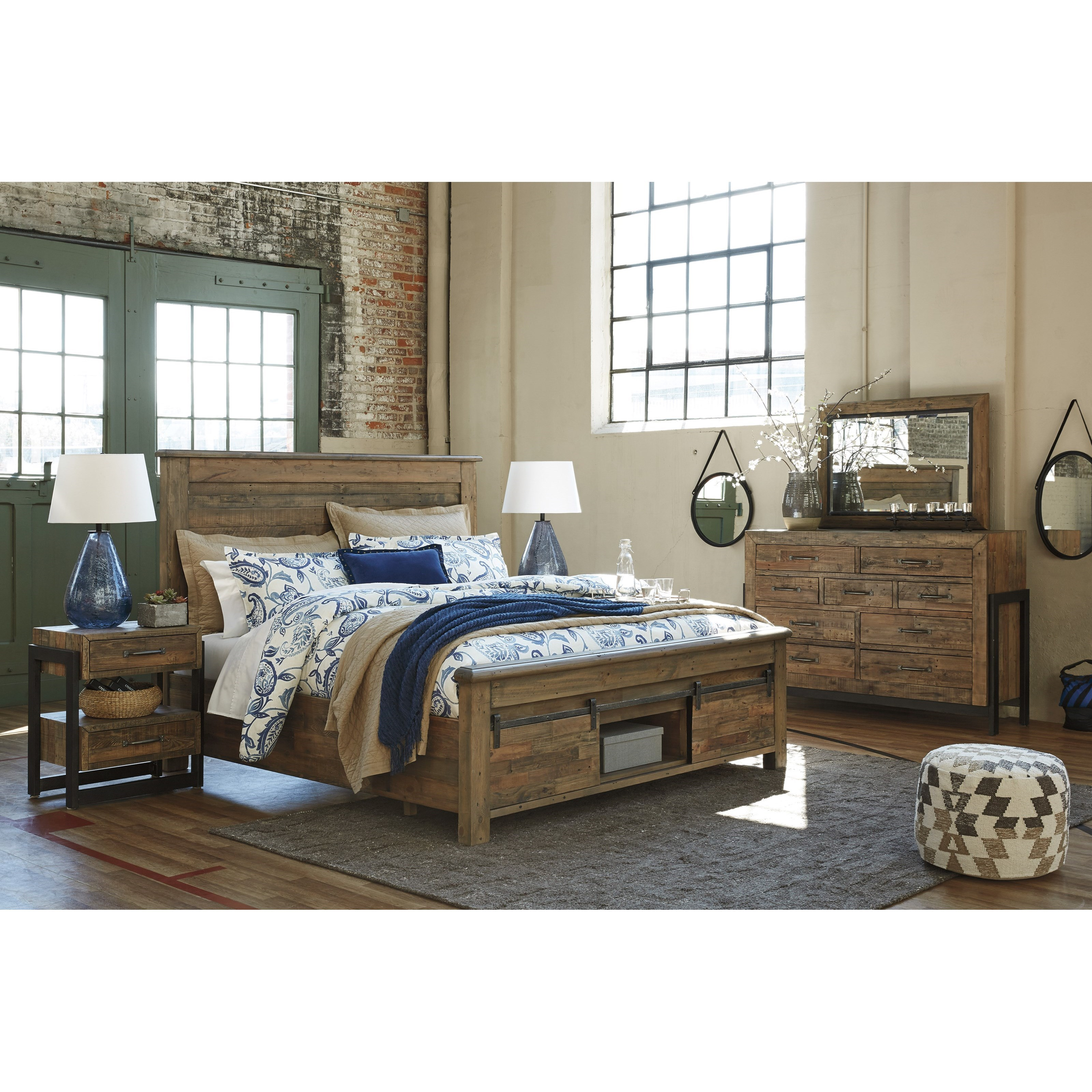 Ashley Signature Design Sommerford Queen Panel Storage Bed