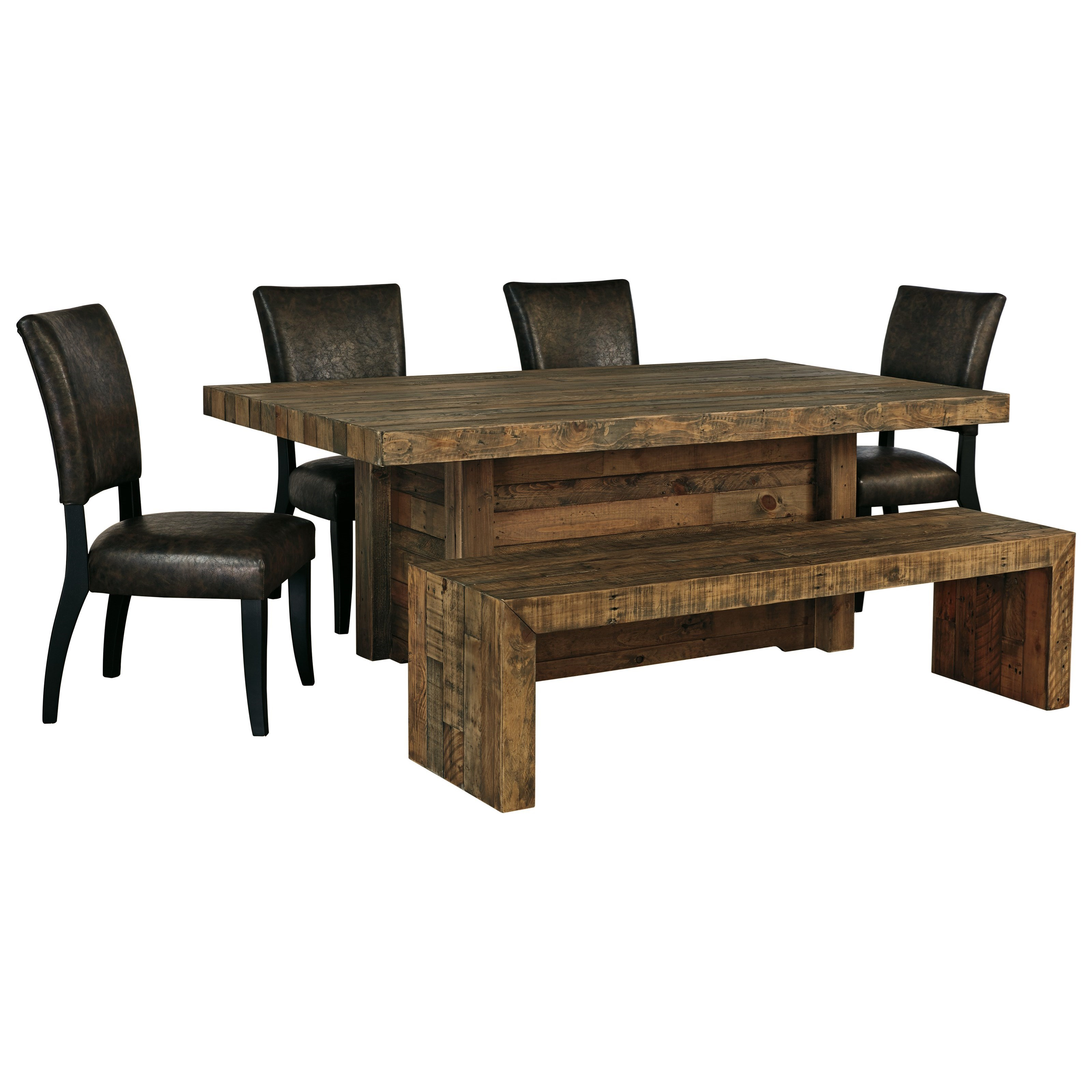 Signature Design By Ashley Sommerford 6 Piece Table Set With Bench Wayside Furniture Table