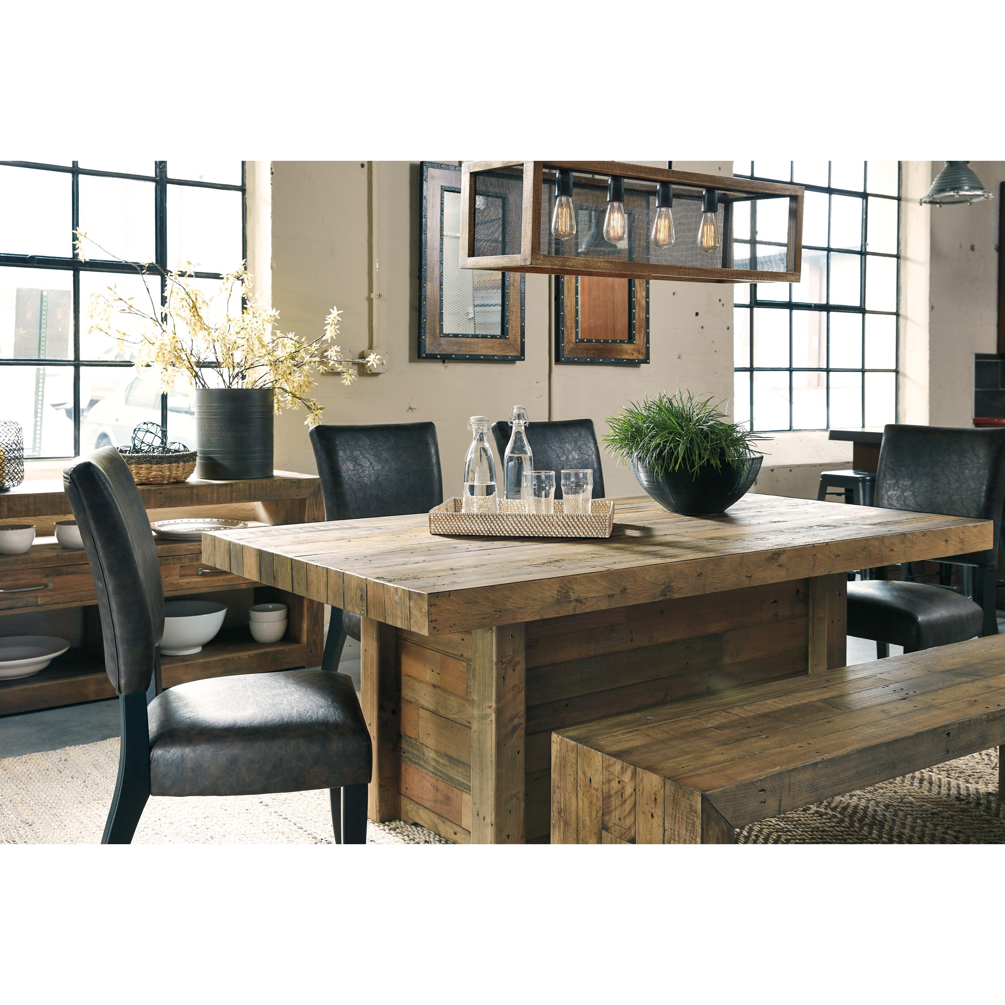 Signature Design By Ashley Sommerford 6 Piece Table Set