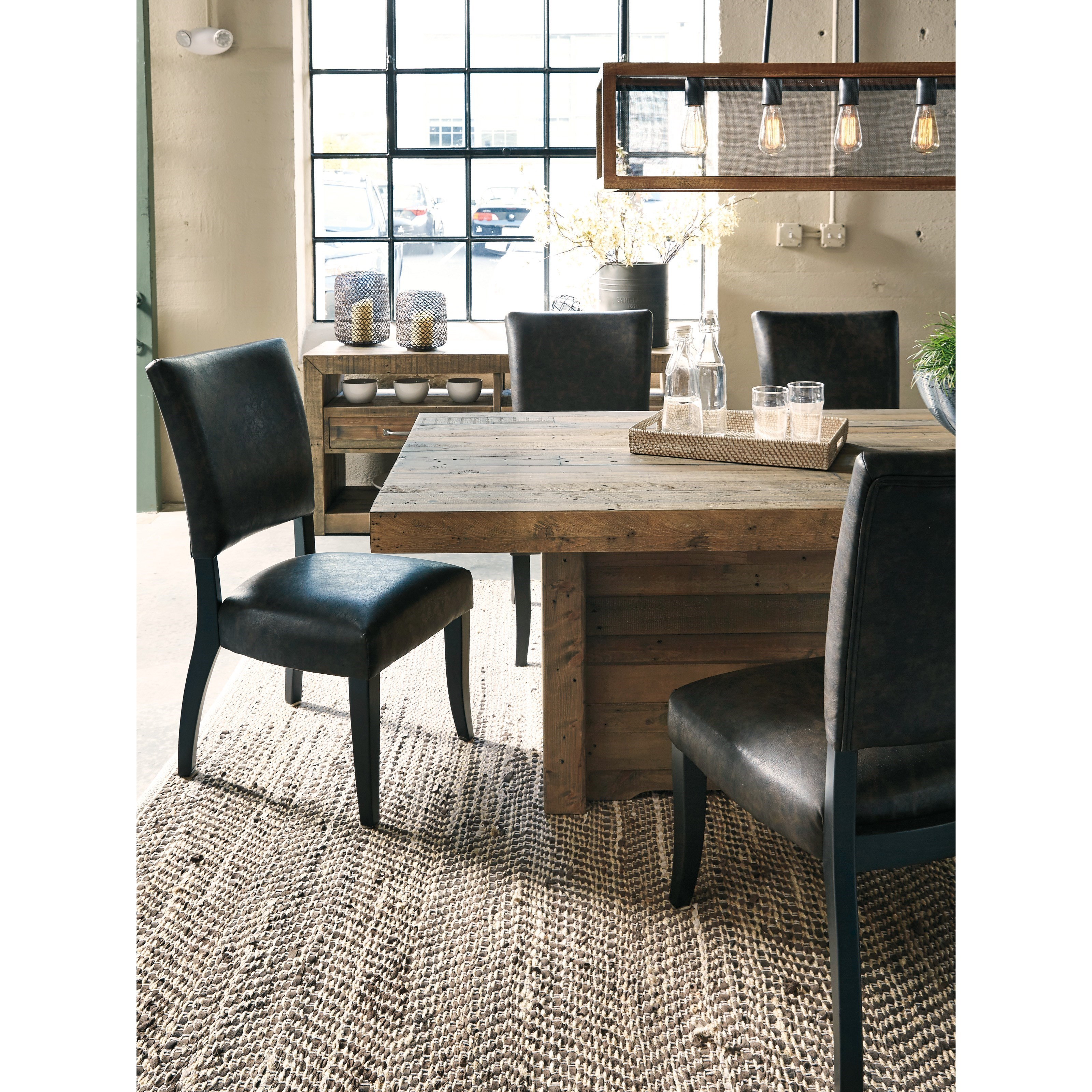 Setting Dining Room Table: Ashley Signature Design Sommerford 5-Piece Rectangular