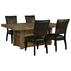 Signature Design by Ashley Sommerford 5-Piece Rectangular Dining Room Table Set