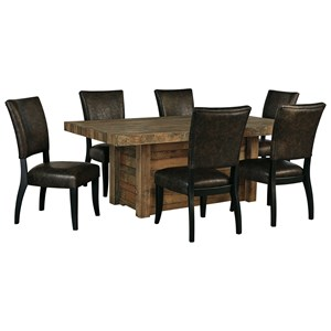 7-Piece Rectangular Dining Room Table Set