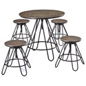 Signature Design by Ashley Sonilyn 5-Piece Adjustable Height Dining Room Counter Table Set