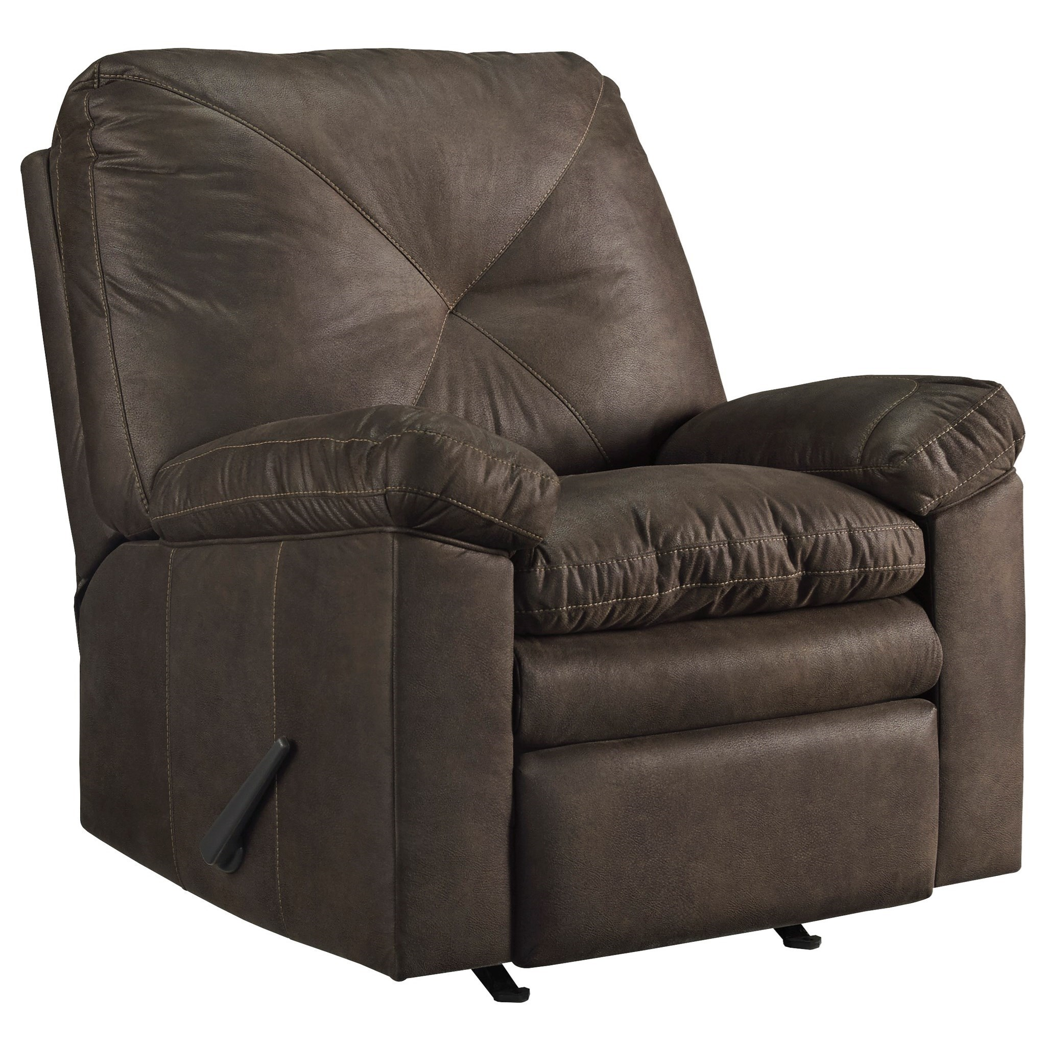 signature design by ashley speyer faux leather rocker recliner with x