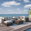 Signature Design by Ashley Spring Dew Outdoor Conversation Set - Item Number: P453-077+2x846+2x877+853