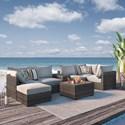Signature Design by Ashley Spring Dew Outdoor Conversation Set - Item Number: P453-077+846+877+853