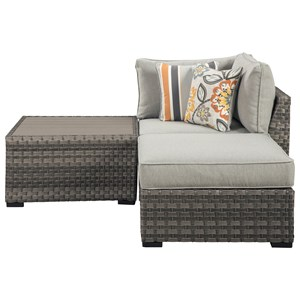 Signature Design by Ashley Spring Dew Table/Corner/Ottoman with Cushion