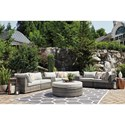 Signature Design by Ashley Spring Dew 8-Piece Outdoor Sectional Group - Item Number: P453-851+846+877+2x853+814