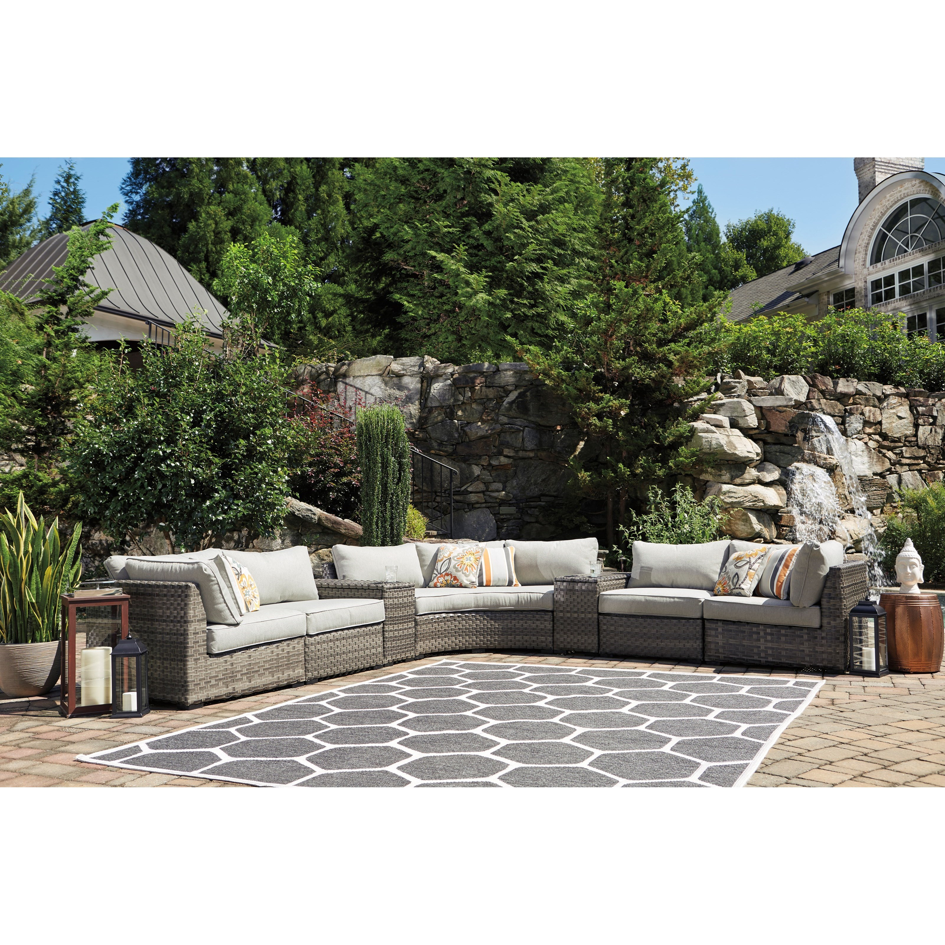 Signature Design By Ashley Spring Dew 7 Piece Outdoor
