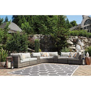Signature Design by Ashley Spring Dew 7 Piece Outdoor Sectional Set