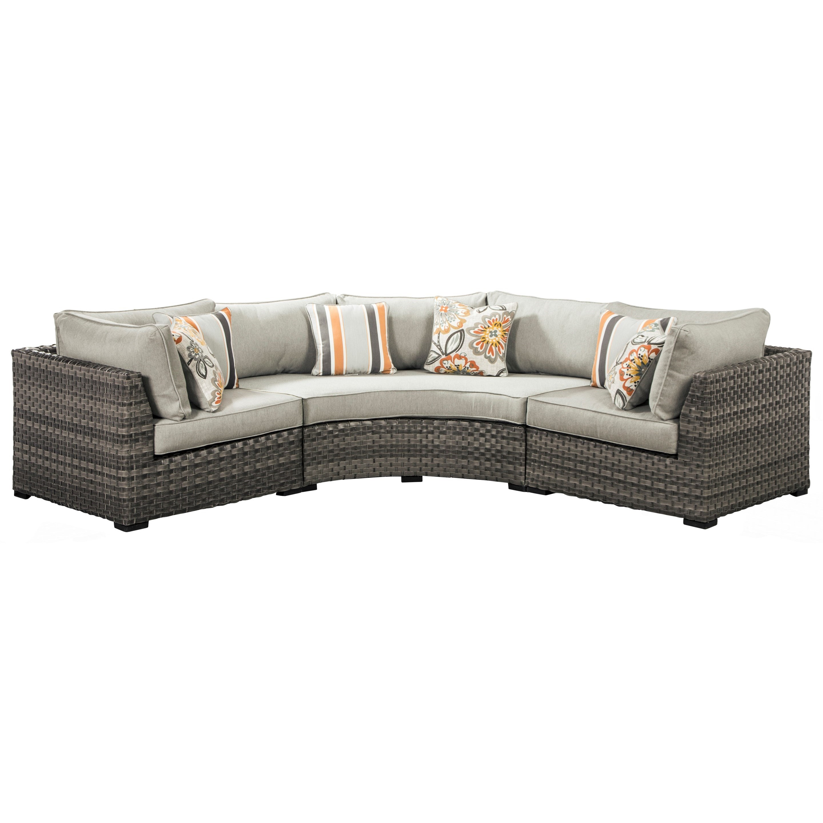 Curved Corner Sectional with Cushions