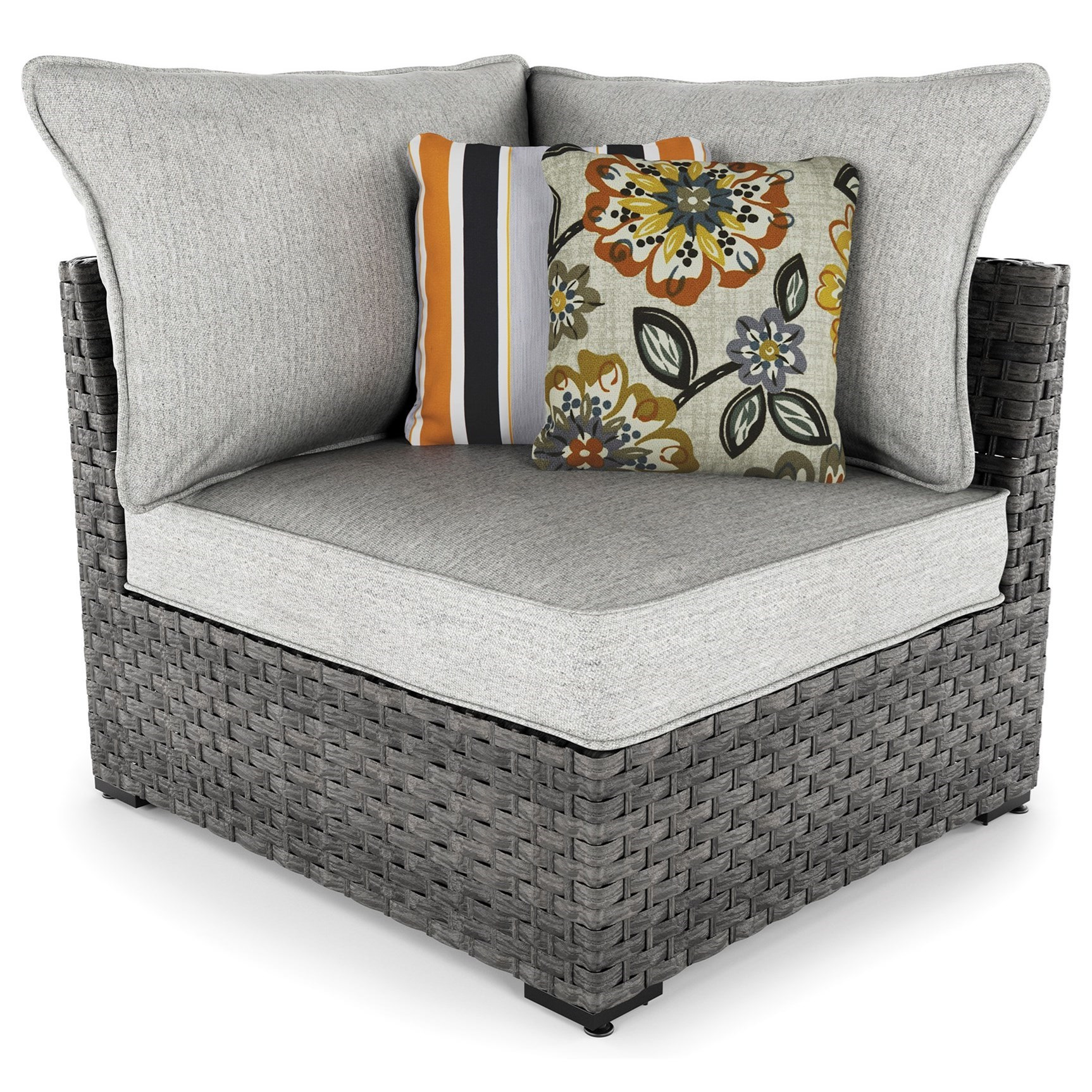 Signature Design by Ashley Spring Dew Set of 2 Corner Chairs with Cushion - Item Number: P453-877