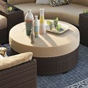 Signature Design by Ashley Spring Ridge Resin Wicker Ottoman with Cushion