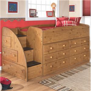 Signature Design by Ashley Furniture Stages Twin Loft Bed with Chest Storage