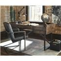 Signature Design by Ashley Starmore Home Office Desk and Chair Set - Item Number: 861563332