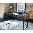 Signature Design by Ashley Starmore Modern Rustic/Industrial Home Office Desk with Steel Base