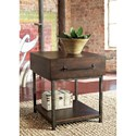 Signature Design by Ashley Starmore Industrial Style Rectangular End Table