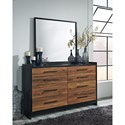 Signature Design by Ashley Stavani Modern Rustic Dresser & Bedroom Mirror