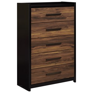 Signature Design by Ashley Stavani Five Drawer Chest