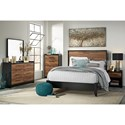 Signature Design by Ashley Stavani Modern Rustic Queen Panel Bed with Black/Cherry Finish
