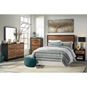 Signature Design by Ashley Stavani Modern Rustic Queen/Full Panel Headboard with Black/Cherry Finish