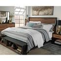 Signature Design by Ashley Stavani King Platform Bed w/ Storage Bench Footboard