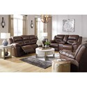 Signature Design by Ashley Stoneland Reclining Living Room Group - Item Number: 39904 Living Room Group 3