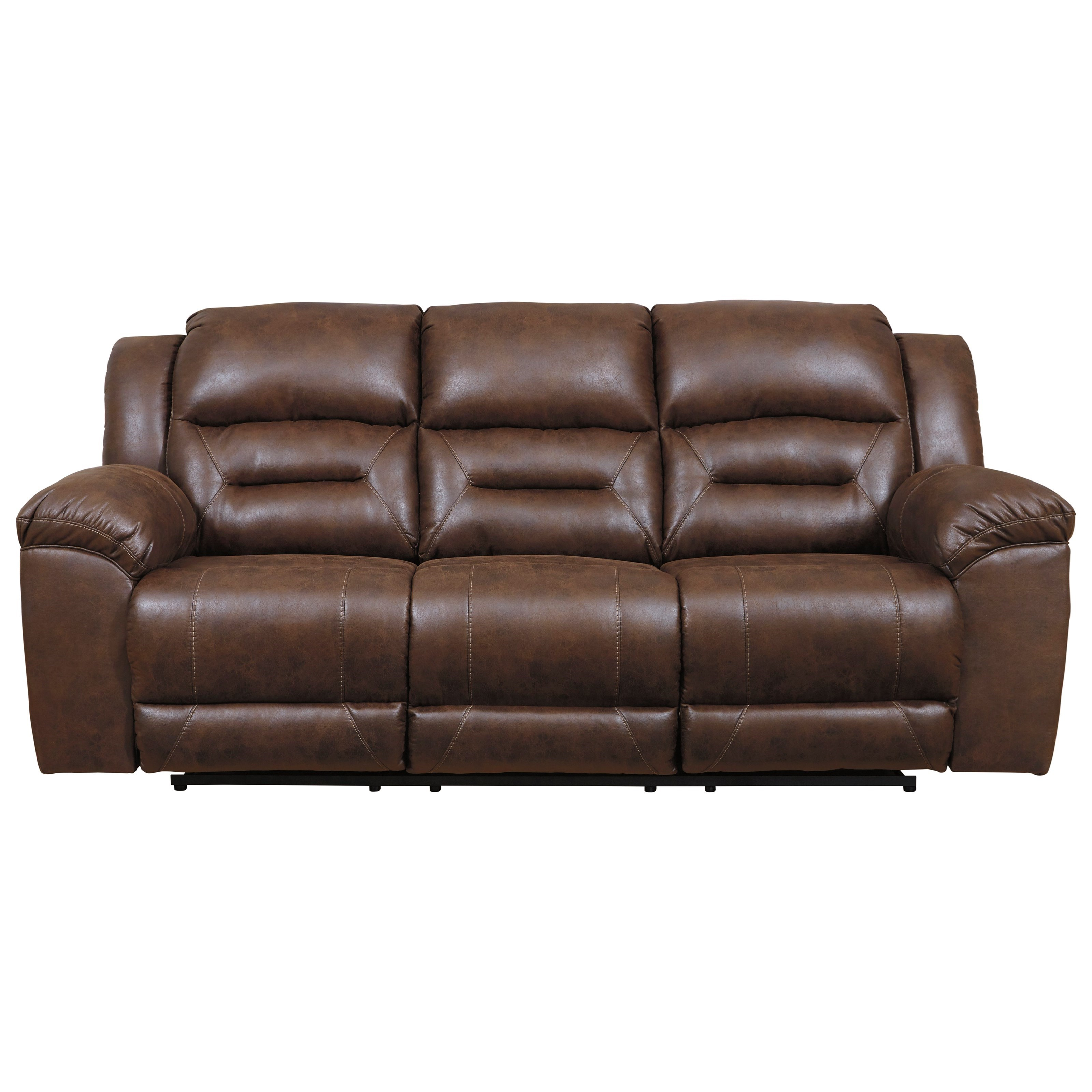 Stoneland Faux Leather Reclining Sofa by Signature Design by Ashley at  Royal Furniture