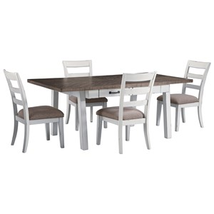 Signature Design by Ashley Stownbranner 5 Piece Rectangular Table Set