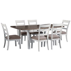 Signature Design by Ashley Stownbranner 7 Piece Rectangular Table Set
