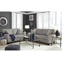 Signature Design by Ashley Strehela Contemporary Loveseat with Flared Arm