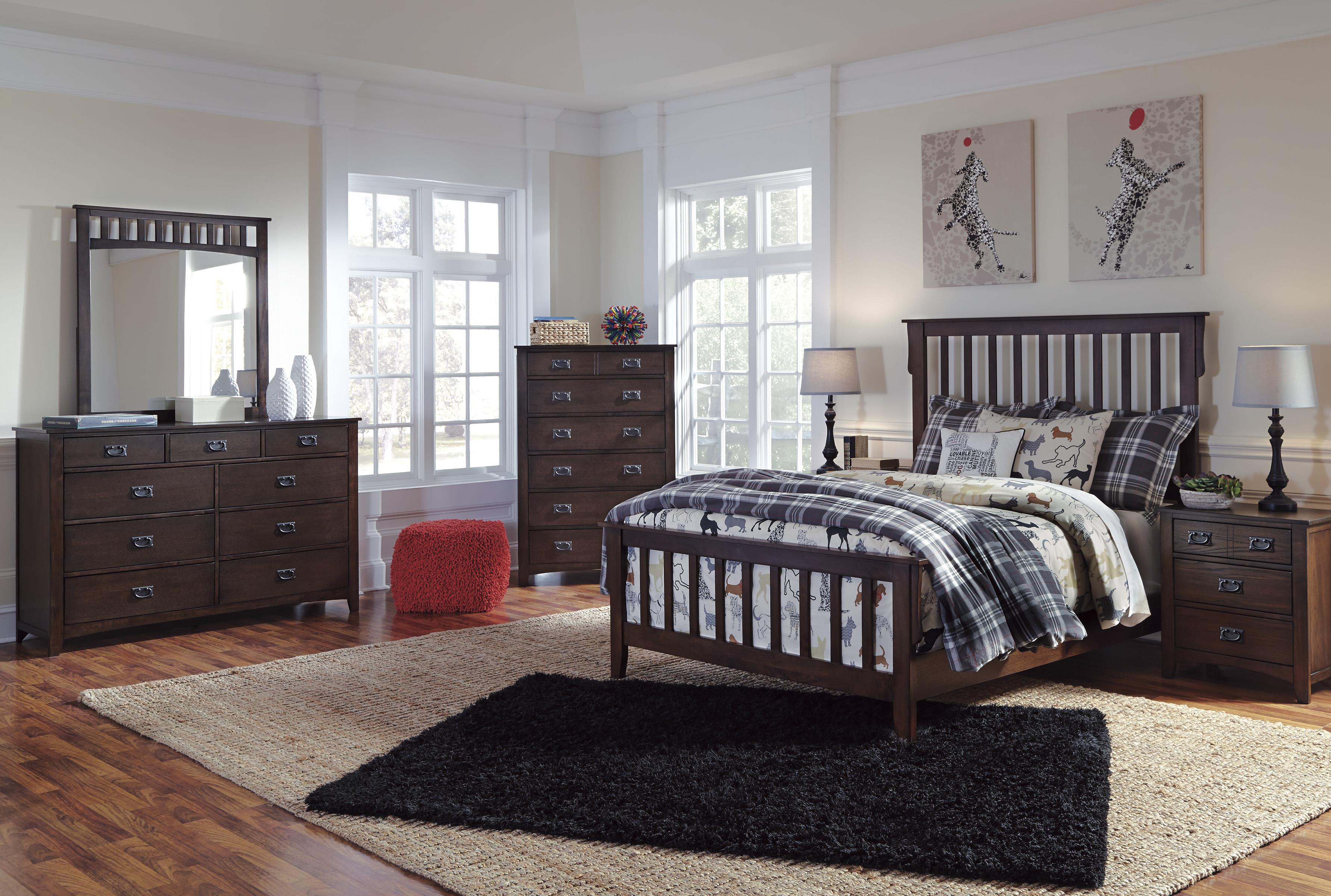 Signature Design by Ashley Strenton Full Bedroom Group - Item Number: B568 F Bedroom Group