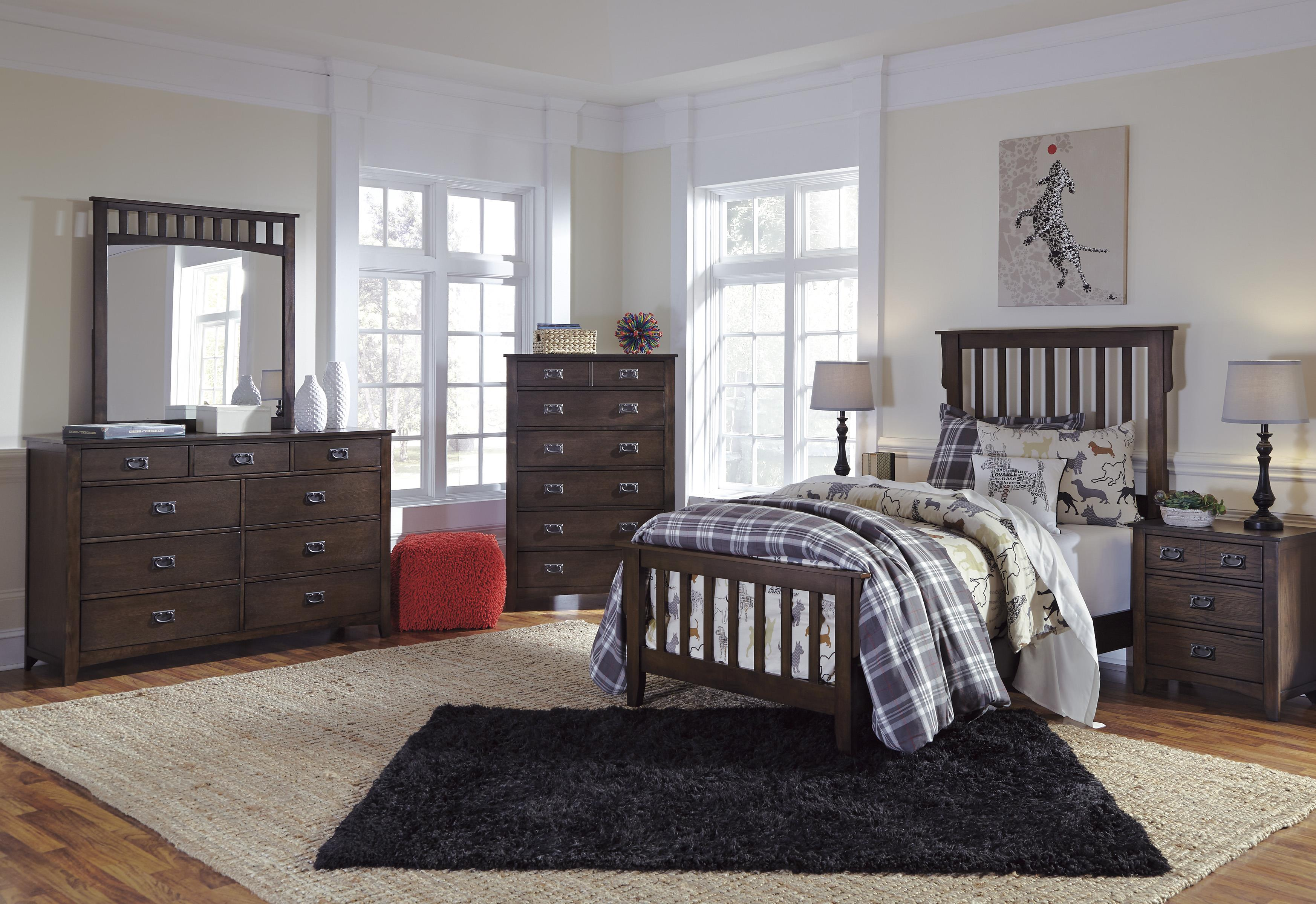 Signature Design by Ashley Strenton Twin Bedroom Group - Item Number: B568 T Bedroom Group