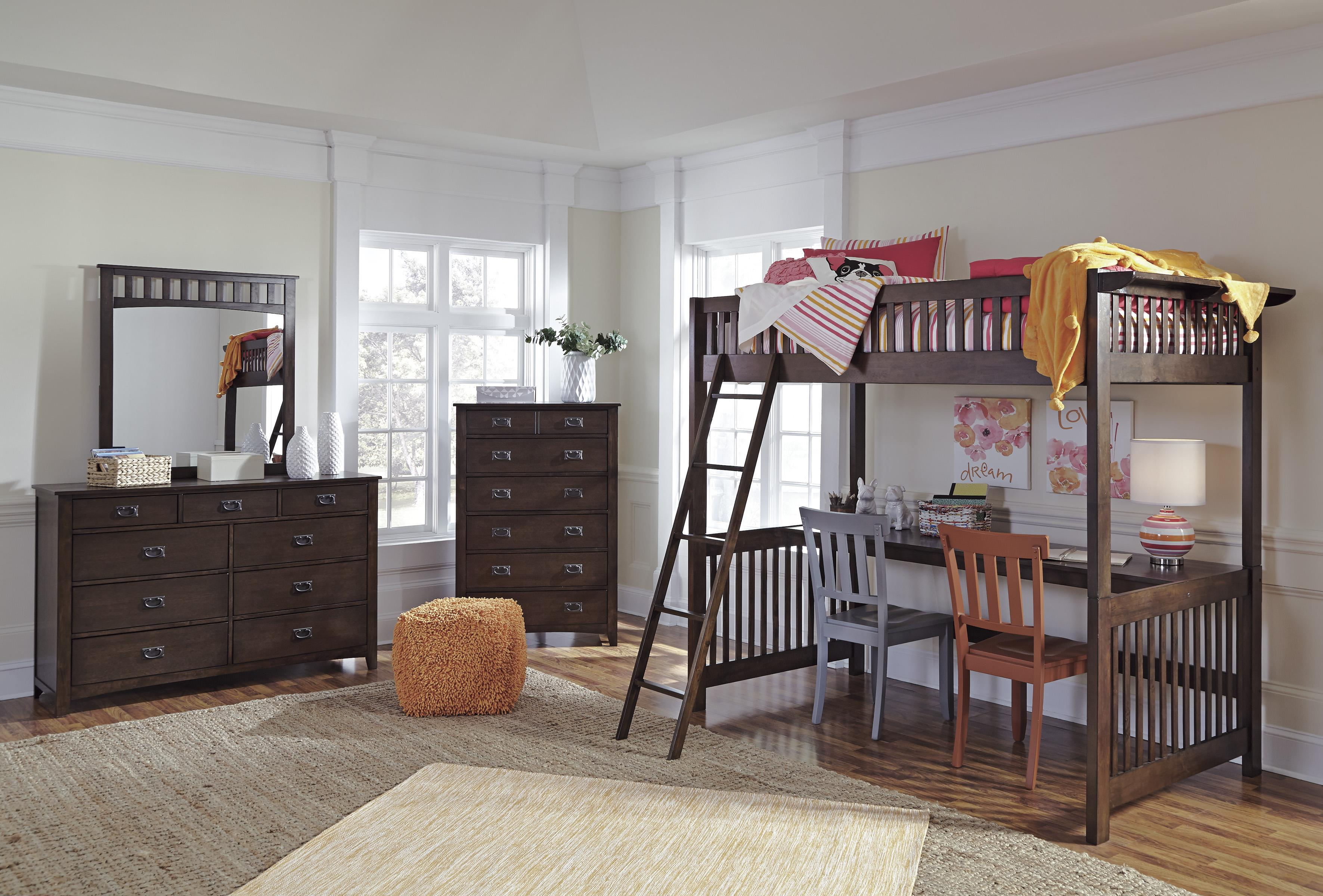 Signature Design by Ashley Strenton Lofted Twin Bedroom Group - Item Number: B568 Twin Bedroom Group 2