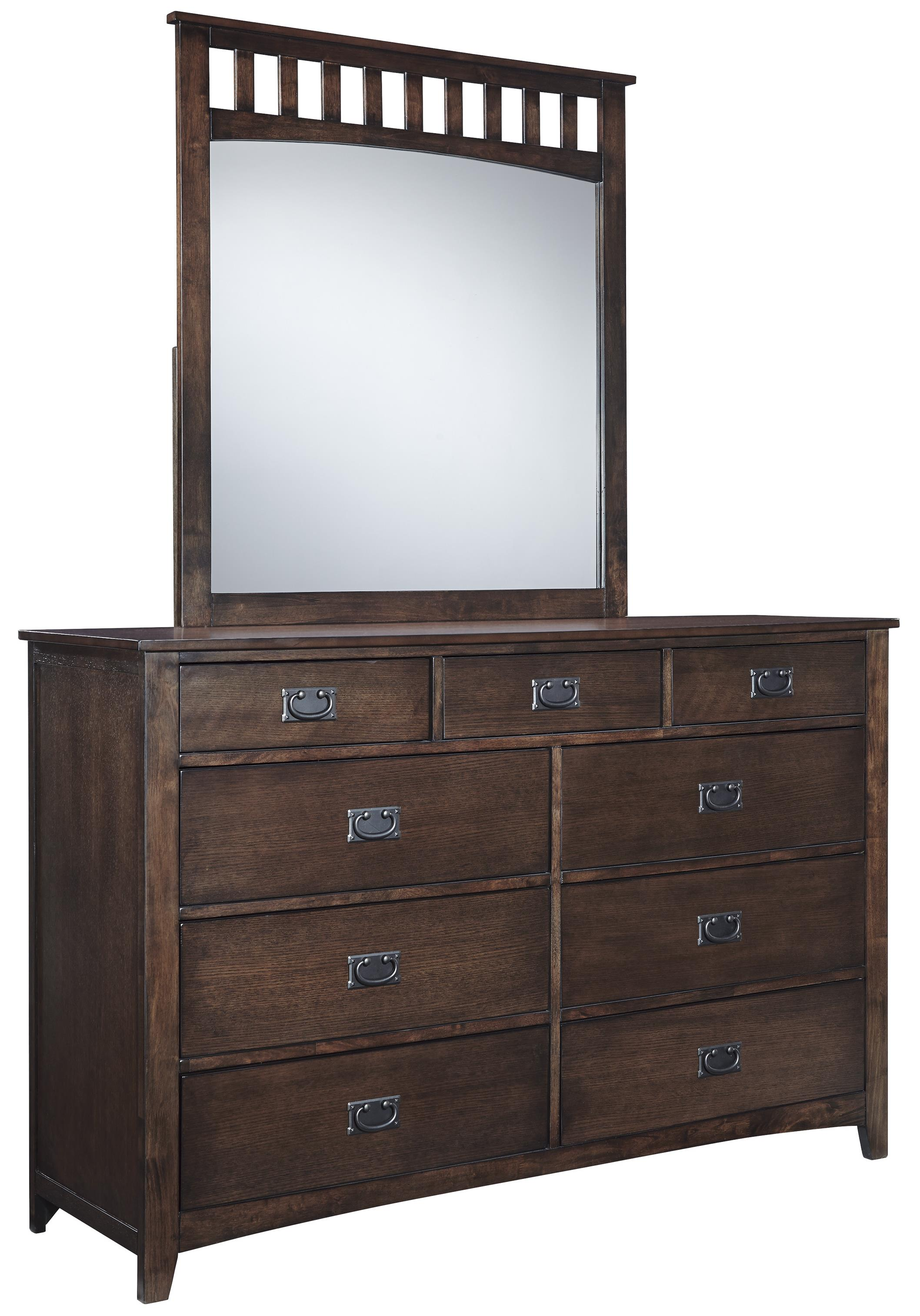 Signature Design by Ashley Strenton Dresser and Mirror - Item Number: B568-31+36