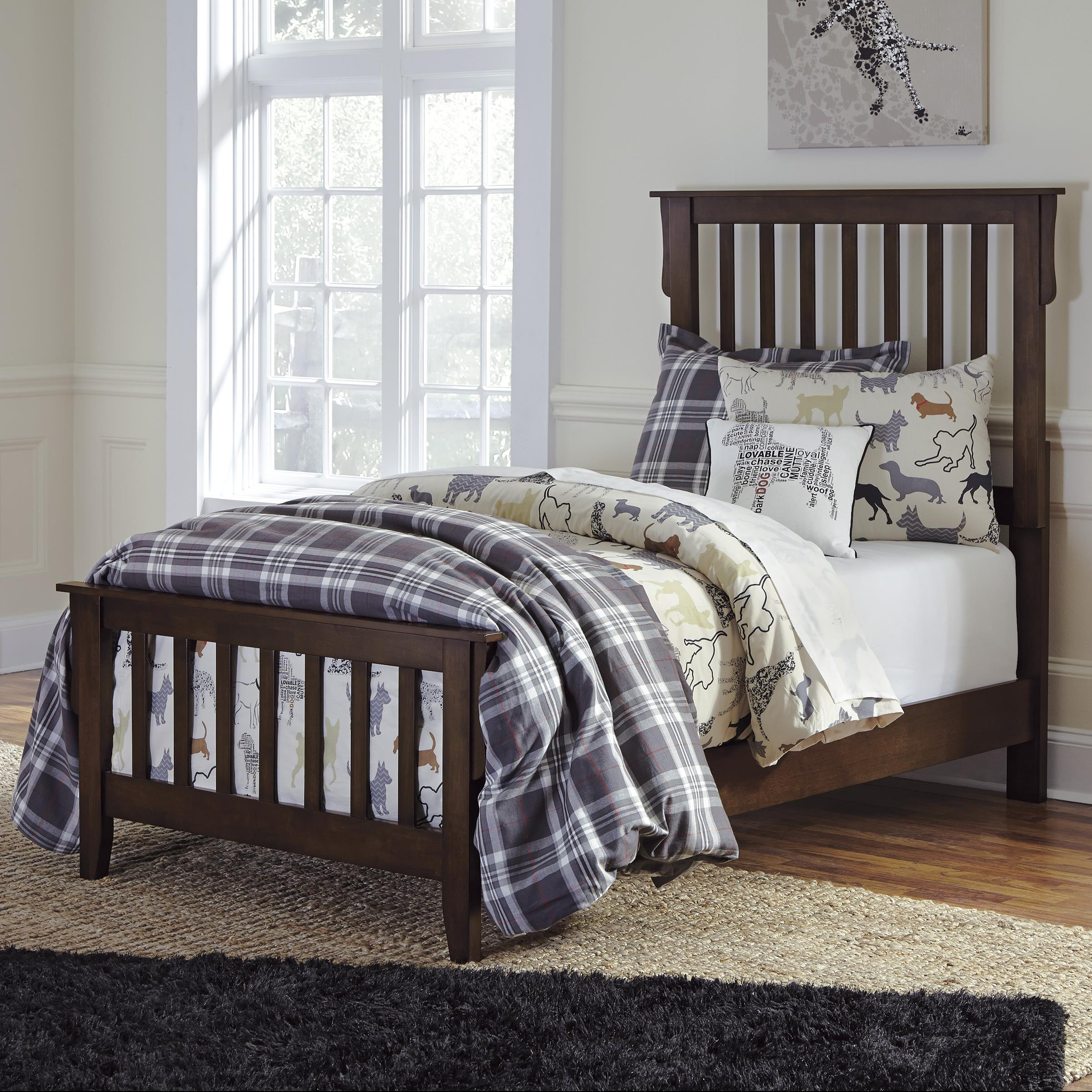 Signature Design by Ashley Strenton Twin Bed  - Item Number: B568-53+83