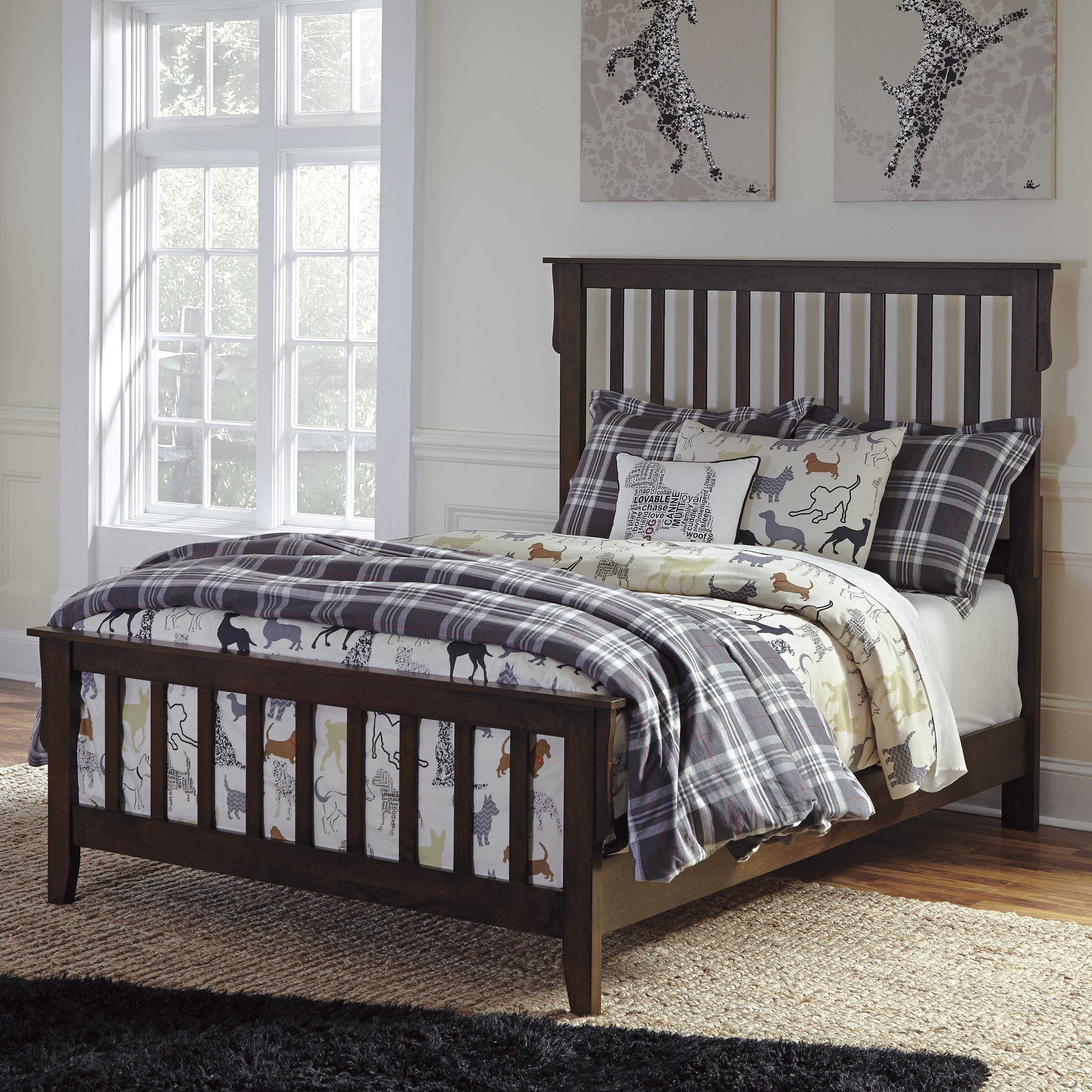 Signature Design by Ashley Strenton Full Bed - Item Number: B568-55+86