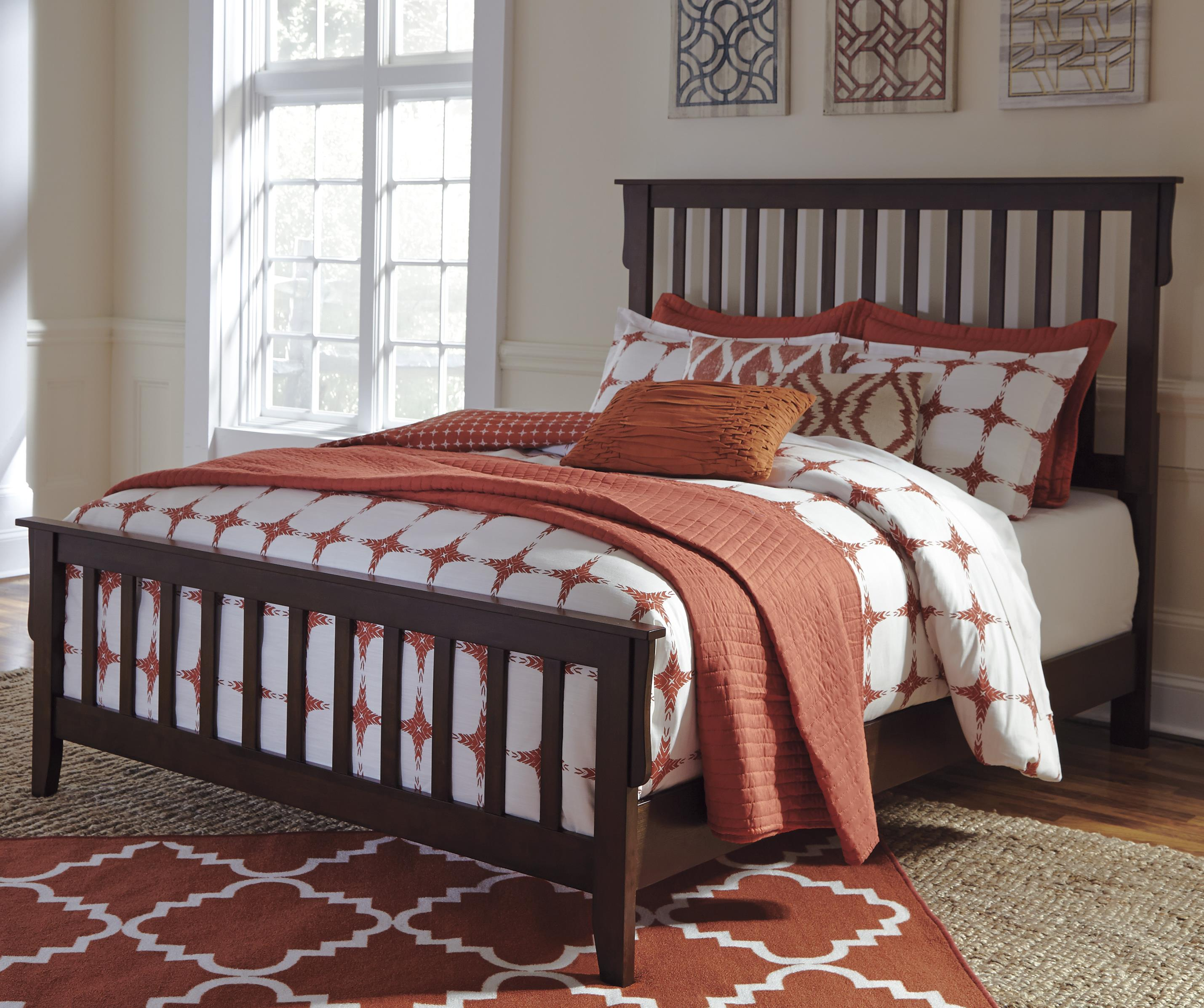 Signature Design by Ashley Strenton Queen Bed - Item Number: B568-81+96