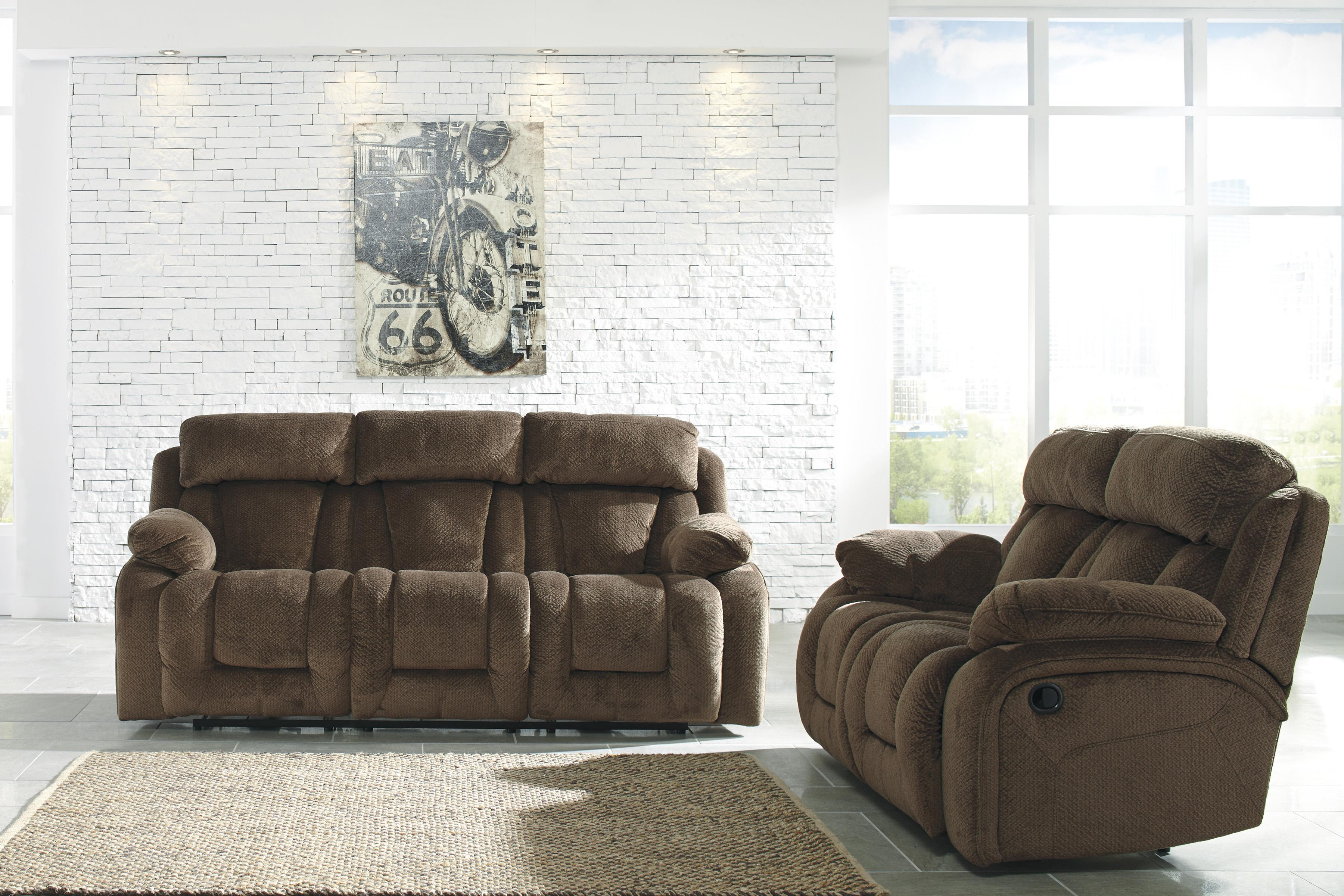Signature Design by Ashley Stricklin Reclining Living Room Group - Item Number: 86503 Living Room Group 1