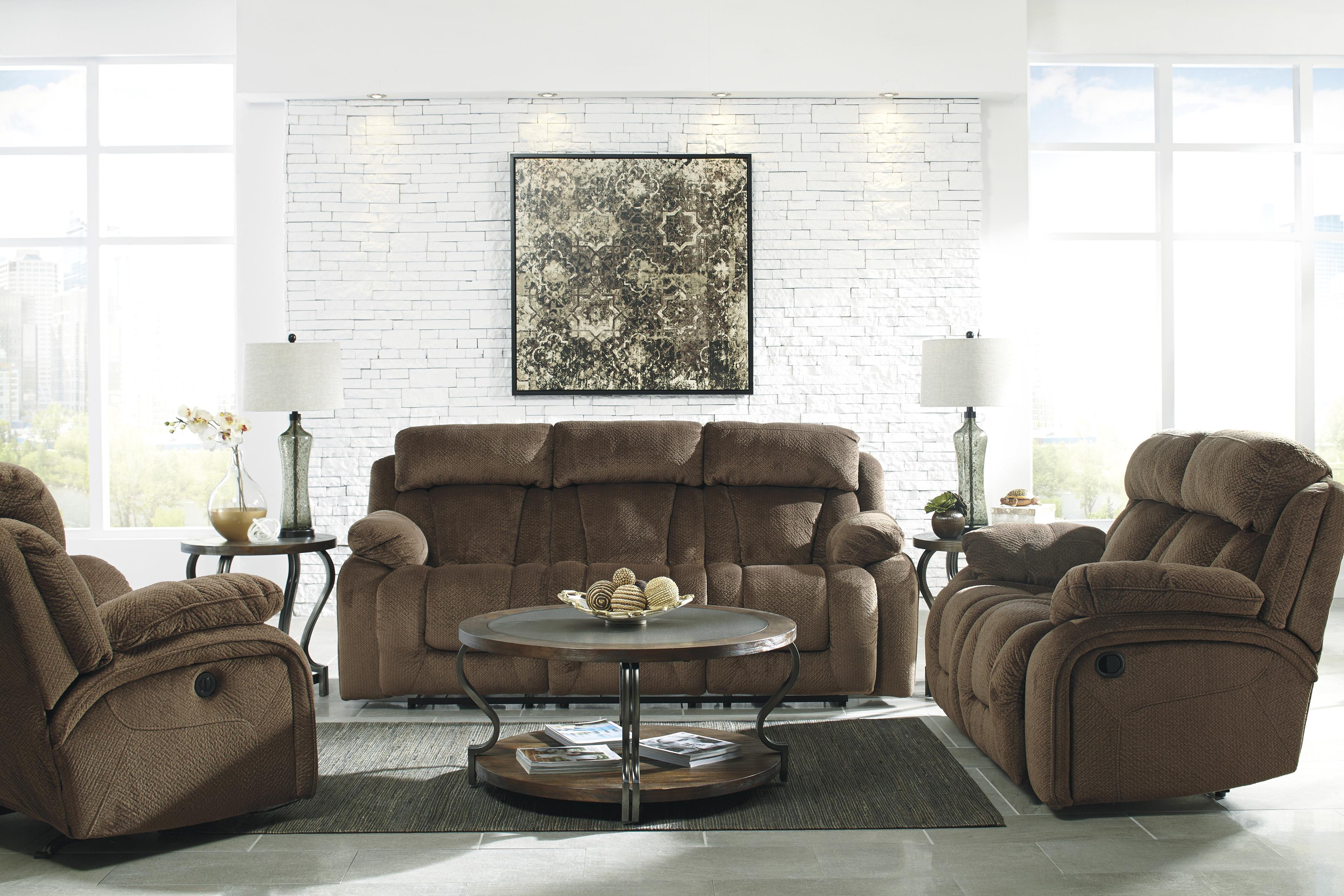 Signature Design by Ashley Stricklin Reclining Living Room Group - Item Number: 86503 Living Room Group 4