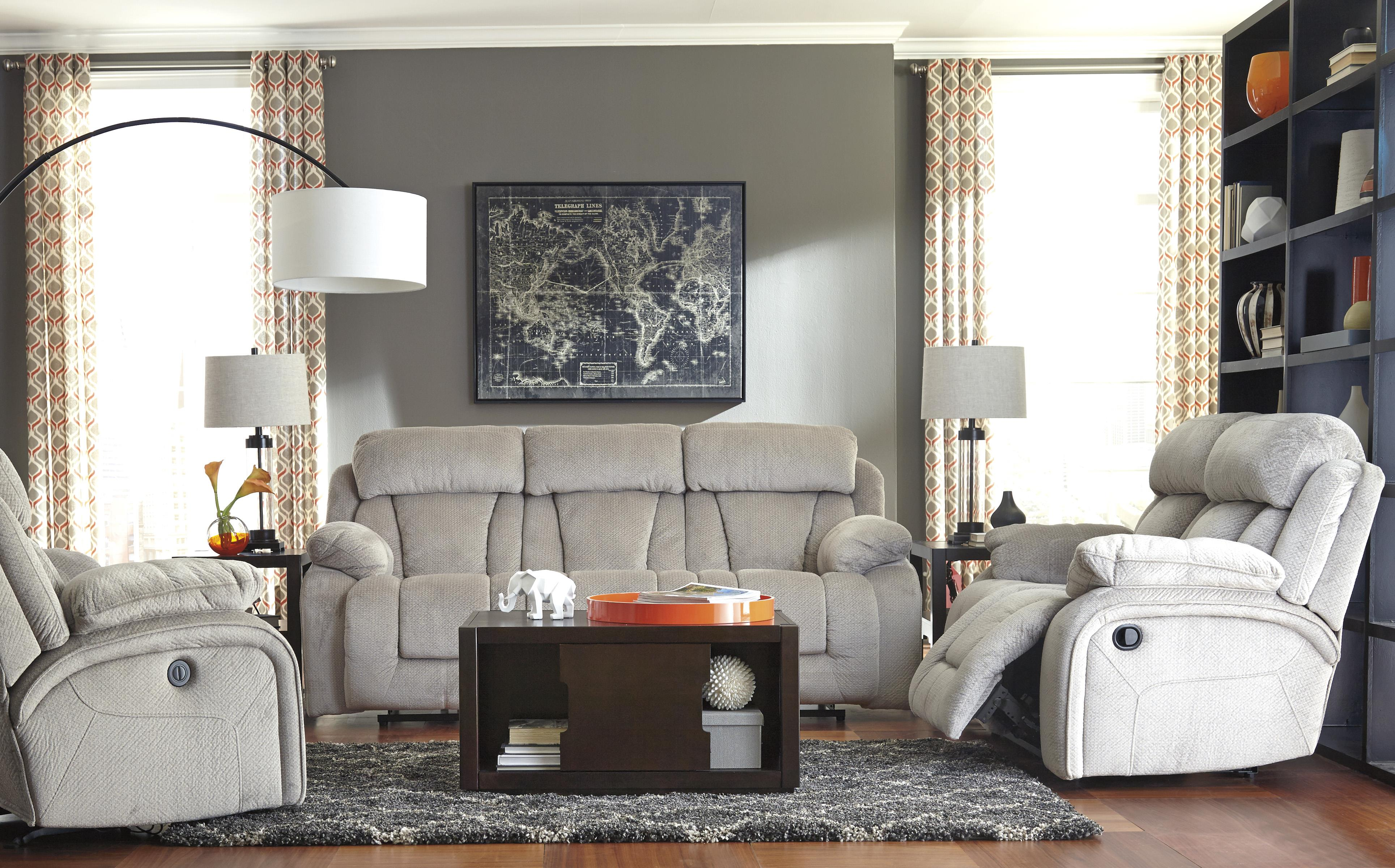 Signature Design by Ashley Stricklin Reclining Living Room Group - Item Number: 86504 Living Room Group 4