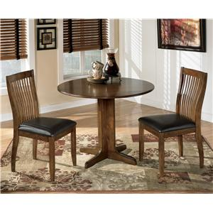 Ashley Signature Design Stuman 3-Piece Round Drop Leaf Table Set