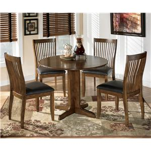 Signature Design by Ashley Stuman 5-Piece Round Drop Leaf Table Set